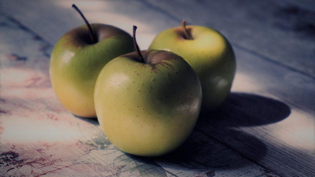 células madres de manzana contorno de ojos