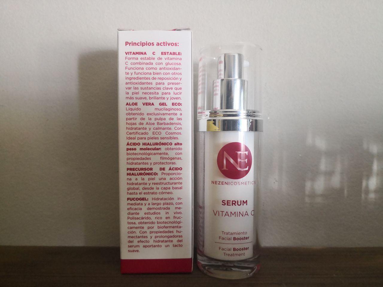 Serum vitamina C Nezeni Cosmetics: mi opinión